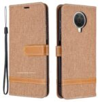 Assorted Color Jeans Cloth Leather Wallet Stand Case for Nokia G20 – Khaki