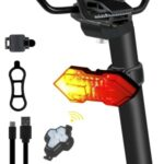 WEST BIKING YP0701299 Remote Control Bicycle Tail Light USB Rechargeable 5 Modes Cycling Rear Warning Lamp