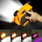 E-SMARTER W857 60LED Outdoor Camping Emergency Portable Lamp Flashlight Garden Lawn Lights Lamp 4 Modes Spotlight with Magnet