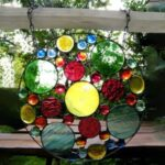Colorful Rainbow Wall Pendant Stained Glass Window Hanging Wind Chime Suncatcher Home Decoration
