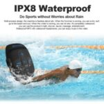 IPX8 Waterproof MP3 Player 8GB Music Player with Headphones Clip Design for Swimming
