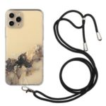 Marble Pattern Flexible TPU Case with Adjustable Lanyard for iPhone 11 Pro Max 6.5 inch – Style A