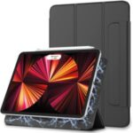 Tri-fold Stand Auto Wake & Sleep PU Leather Magnetic Tablet Case Shell for iPad Pro 12.9-inch (2021) – Black