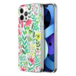 MUTURAL Floral Printed PC + TPU Hybrid Phone Case Cover for iPhone 12 Pro Max – Style A