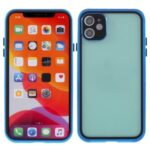 Metal+Tempered Glass Hybrid Case Shockproof Phone Cover Shell Protector for iPhone 11 6.1 inch – Blue