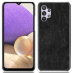 Litchi Texture PU Leather Back Phone Shell Case for Samsung Galaxy A32 4G (Europe Version) – Black
