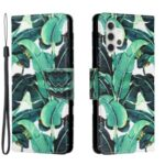 Pattern Printing Leather Stand Wallet Phone Case Shell for Samsung Galaxy A32 4G (EU Version) – Banana Leaves