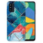 Marble Pattern Anti-Drop Soft TPU Cover Case for Samsung Galaxy F52 5G – Style A