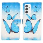 Full-Body Protective 3D Pattern Printing Flip PU Leather Wallet Case for Samsung Galaxy A82 5G – Blue Butterfly