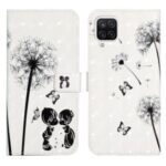 3D Fashion Creative 3D Pattern Printing Cover PU Leather Shockproof Flip Wallet Phone Case for Samsung Galaxy A22 4G (EU Version) – Children and Dandelions