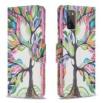 Stand Book Design Pattern Printing Premium PU Leather Flip Folio Cover for Samsung Galaxy A03s – Life Tree