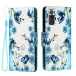 Pattern Printing Leather Wallet Case for Xiaomi Redmi Note 10 Pro/Redmi Note 10 Pro Max – Butterfly and Flower