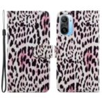 Pattern Printing Wallet Design Leather Phone Case Cover with Stand for Xiaomi Redmi K40/K40 Pro/Mi 11i/Poco F3 – Leopard