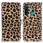Full Protection Leopard Texture Leather Phone Protector Wallet Stand Case for Xiaomi Redmi Note 8 2021