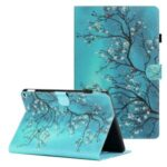 Ultra Slim Pattern Printing PU Leather Folding Stand Back Cover with Pen Holder & Card Holder for Amazon Fire HD 10 (2021) / 10 Plus (2021) – Flower Tree