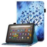 Ultra Slim Pattern Printing Elastic Band PU Leather Stand Cover with Card Holder for Amazon Fire HD 10 (2021) / (2019) – Butterfly Tree
