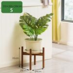 Bamboo Indoor Plant Stand Wood Flower Pot Holder – S