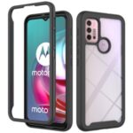Well-Protected TPU + PC Hybrid Case Protective Cover for Motorola Moto G30 – Black