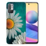 Pattern Printing Design Soft TPU Shock Absorption Slim Protective Back Cover for Xiaomi Poco M3 Pro 5G / 4G / Redmi Note 10 5G – Chrysanthemum