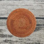 Round Rattan Weave Coasters Kitchen Table Placemat 10cm Heat Insulation Bowl Dish Mat Tea Cup Pad