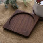 Non-Slip Black Walnut Heat Resistant Table Placemats Drink Mat Table Tea Coffee Cup Pad  Coaster