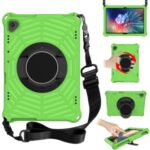 Spider Web Texture Scratch-resistant EVA Smart Tablet Case Cover with Kickstand and Shoulder Strap for Lenovo Tab M10 TB-X505F/TB-X605F 10.1-inch – Green